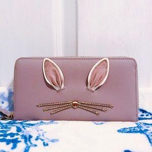 🐰 Kate Spade Hop To It Neda Rabbit Wallet